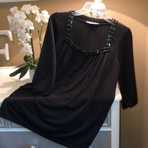 Black Blouse with Embellishments